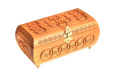 Wooden casket Royalty Free Stock Images