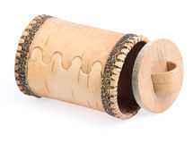 The wooden casket. In the form of barrel Royalty Free Stock Images