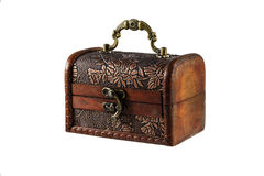Wooden casket for jewelry Stock Image
