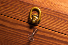 Wooden Casket key Royalty Free Stock Photos