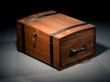 Wooden Casket Stock Photography