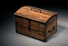 Wooden Casket Stock Photo