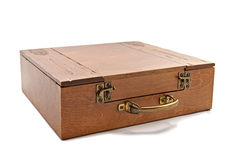 Wooden casket Stock Photo