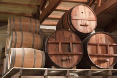Wooden casks Stock Image