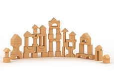 Wooden castle Stock Images