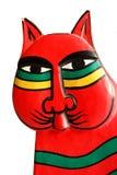 Wooden cat Stock Image