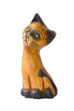 Wooden cat Royalty Free Stock Photo