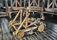 Wooden catapult Stock Photos