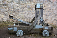 Wooden catapult Royalty Free Stock Photos
