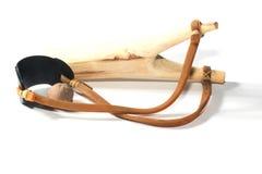 Wooden catapult slingshot Stock Photography