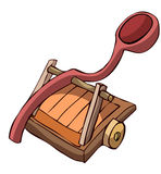 Wooden Catapult. Royalty Free Stock Photography