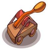 Wooden Catapult Vector Illustration. Stock Photo