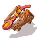 Wooden Catapult. Stock Photos