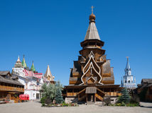Wooden cathedral in Moscow Kremlin Stock Images
