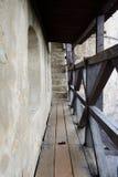 Wooden catwalk castle battlements Stock Photography