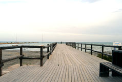 A Wooden Causeway Stock Photography