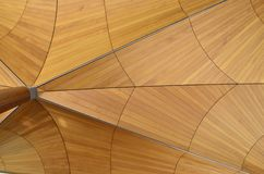 Wooden Ceiling. A wooden ceiling resembling a spiders web Stock Photography