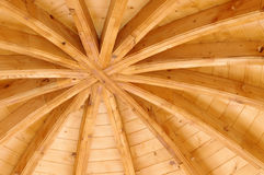 Wooden ceiling. Of a traditional church in Moldavia, Romania Stock Photo
