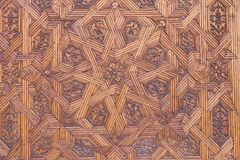 Wooden ceiling in Alhambra de Granada Stock Photo