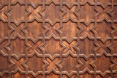 Wooden Ceiling Background. Old wooden ceiling texture with geometrical, symmetrical pattern, Plaza de Espana, Spain stock images