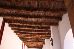 Wooden ceiling in chapel Royalty Free Stock Photo