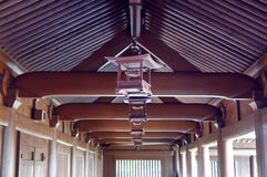 Wooden ceiling of Chi Lin Nunnery Royalty Free Stock Photo