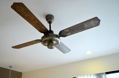 Wooden ceiling fan Royalty Free Stock Images