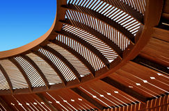 Wooden ceiling gazebo Royalty Free Stock Photo
