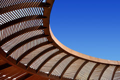 Wooden ceiling gazebo Royalty Free Stock Image