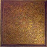 Wooden ceiling in Nasrid Palaces, Alhambra, Granada. Andalusia, Spain royalty free stock images