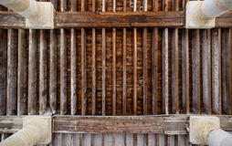 A Wooden ceiling. An old wooden ceiling, with a nice perspective Stock Images