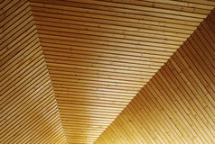 Wooden ceiling pattern Royalty Free Stock Photo