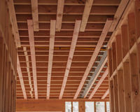 Wooden ceilings, building homes in New Zealand. Auckland, New Zealand, horizontal photo, photo is usable on picture post card, calendar, gardening, magazine Stock Photos