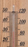 wooden celsius fahrenheit thermometer Royalty Free Stock Photos