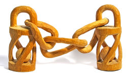 Wooden chain. Royalty Free Stock Photography