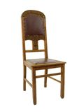 Wooden chair. With a leather seat and a backrest Royalty Free Stock Photography