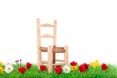 A wooden chair Stock Image
