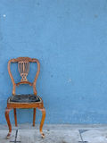 Wooden chair alone stock photos