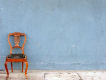 Wooden chair alone (horizontal) Royalty Free Stock Image