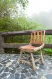 Wooden chair on the balcony Royalty Free Stock Photo