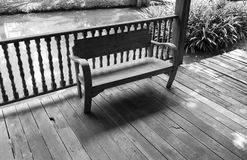 Wooden chair on the balcony Stock Photo
