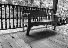 Wooden chair on the balcony Royalty Free Stock Images
