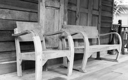 Wooden chair on the balcony Royalty Free Stock Photography