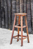 Wooden chair for beach bar Stock Image
