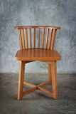 Wooden chair.  with clipping path. Royalty Free Stock Photography