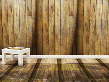 Wooden chair in an empty room Royalty Free Stock Images