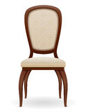 Wooden chair furniture with padded backrest and seats vector ill Stock Photo
