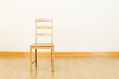 Wooden chair at home Stock Image
