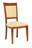 Wooden chair isolated Stock Image