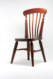 Wooden Chair isolated in White. Antique Wooden Chair isolated with clipping path Stock Photo